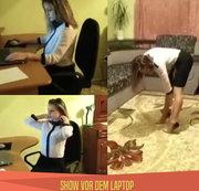 Show vor dem Laptop