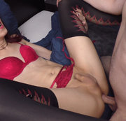 Cristy Noir gets fucked in missionary bareback