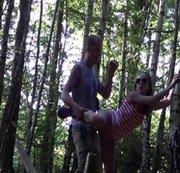 Im Wald heimlich gefickt!
