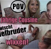 18 j. Cousine erwischt Stiefbruder beim wixxen :-O (POV)