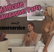 Hardcore Champagner Party mit Zimmerservice