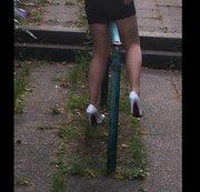 Kleine geile Vorführung meiner weißen Heels!!