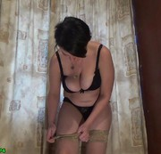 Feets , calf muscle and walking on toes fetishes in tan fishnet stockings
