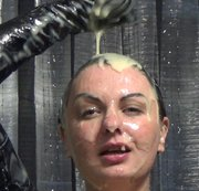 Custard all over my latex body and hair 1? 5 litres