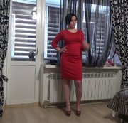The sexiest my outfit N4 Modeling sexy red dress for you