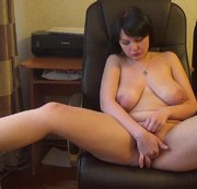 horny Kate fucking her cunt with a toy and fingers