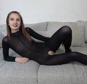 Überraschungsfick im sexy Catsuit!!