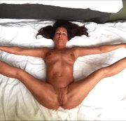 Nackte Yoga von oben
