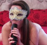 Masked MILF BBC Dildo Sucking and Fucking