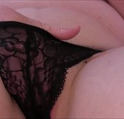 Lacy Black Panty Masturbation