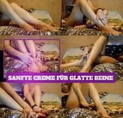Sanfte Creme für glatte Beine