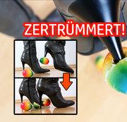 Eier geh�ren ZERTR�MMERT!