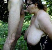 Blowjob im Wald