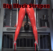 Big Black Strapon in your mouth!