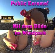 Public Exreme! Mit dem Dildo im Windpark