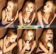 Mit Zigarette