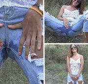 SHAME! Heute konnte ich nicht widerstehen und störte meine Jeans im Wald