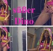 Süßer Dino nährt den Urin