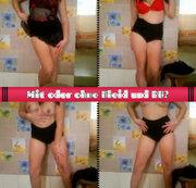 Mit oder ohne Kleid und BH?
