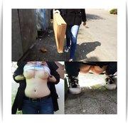 BLANKGEZOGEN beim MÜLLRAUSBRINGEN Teen PISSSssssst auf deine Straße!