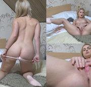 Mein dicker Arsch und meine junge Pussy fingern