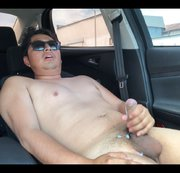 NAKED: JACKING OFF IN THE CAR AGAIN