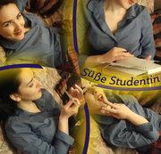 Süße Studentin