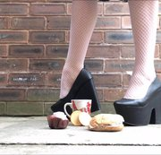 Crushing Slave's Lunch Under Mega Heels