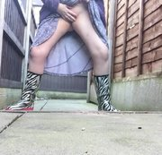 Arikajira ZEBRA Wellies Show Off Flash A