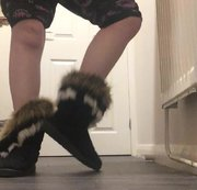 Arikajira Sexy Fluffy Boots Foot Fetish