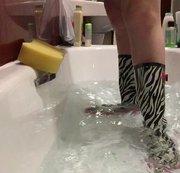 Arikajira Wellies Bath Stomp Fetish BBW