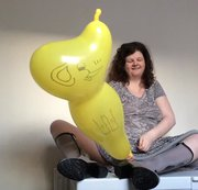 Ari Cat Wellies Yellow Elephant Balloon 4
