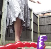 Arikajira Barefoot Balloon Pop Fetish