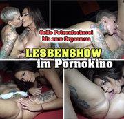 LESBENSHOW im Pornokino! Geile Fotzenleckerei bis zum Orgasmus