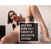 WAR DAS MEIN 1. SQUIRT? SINA GUCKT PORNOS IN NYLONS