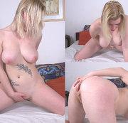 Junges molliges Mädchen mit großen Titten masturbieren Pussy