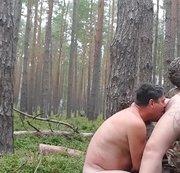 Ficken, wichsen,  lecken im Wald