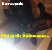 Userwunsch!! Pipi in die Badewanne..