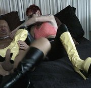 My Patent Leather Platform Boots Hurt His Cock