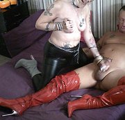 Hot New Shiny Patent Leather Boots