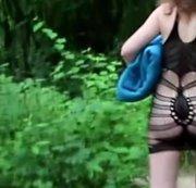 So Männer jetzt kommt die geile Loreen in sexy bikini dann fishnet publik outdoor vorgeführt