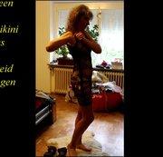 Soviel neue sexy  Teile und was soll ich anziehen,sexy gelber Bikini und# fishnet catsuit #drüber
