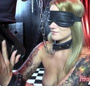 Studentin Aira 24j. beim BDSM Sklaven-Casting - Teil 1 von 3