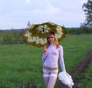 Wandern mit einem Schirm. Ich finde eine Anwendung für sie ...