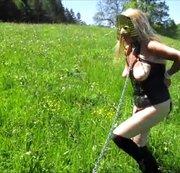 Abrichtung zum Pony auf der grünen Wiese (Öffentlich)