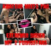 Amateur meets Pro - Extremer Dreier mit 2 Pornostars by Tatjana-Deluxe