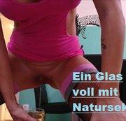 Ein Glas voll mit Natursekt
