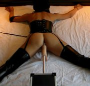 Bondage and Fuck Machine Hard DP