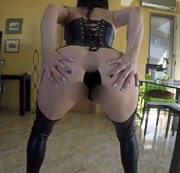 Ass Worship and Pissing in Leather and Latex