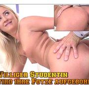 Williger Studentin wird ihre Fotze aufgebohrt!